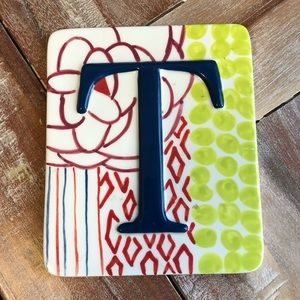 Anthropologie Letter 'T' Wall Plaque